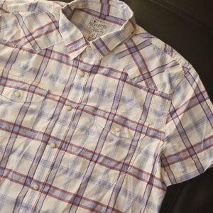 NWOT Lucky Brand SS Western Shirt